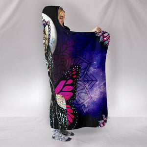 Butterfly Girl Hooded Blanket