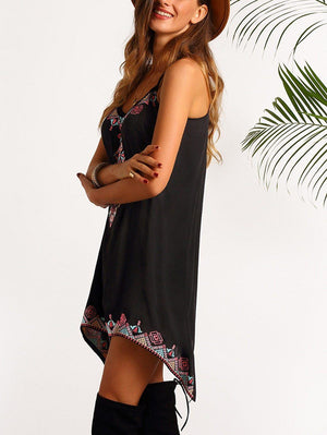 Beach Boho Black Dress