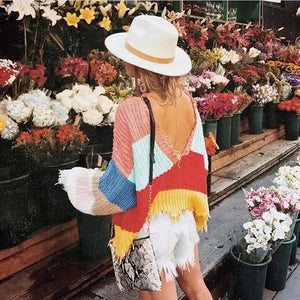 Rainbow Deep Sweater