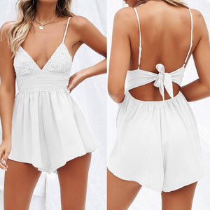 Bowknot Backless Romper