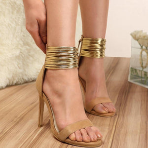 Sexy Cross Tied Sandals