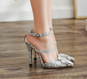 Snake Skin Pointed Stiletto