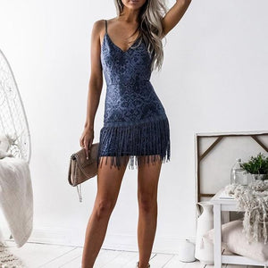 Sexy Tassel Fringe Dress