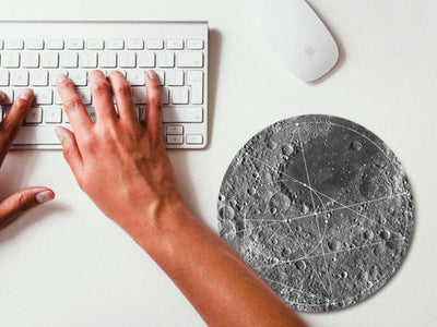 Moon Land Geometric Mouse pad