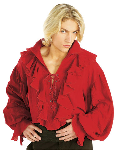 Red Gauze Pirate Shirt