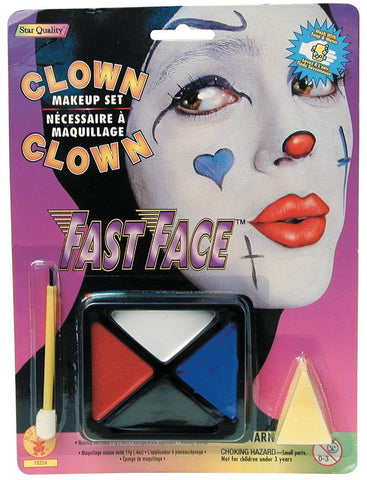 Fast Face Clown Makeup