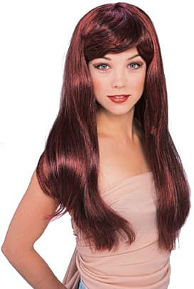 Red and Black Glamour Wig