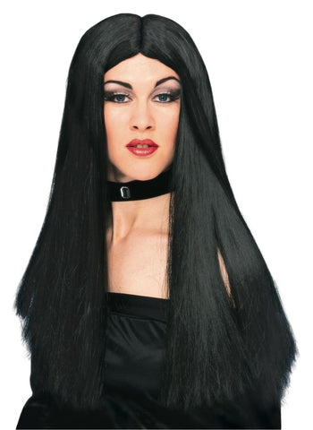 "Witch Wig Black 24"" Long"