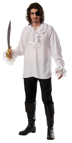Pirate Shirt Adult Costume - White