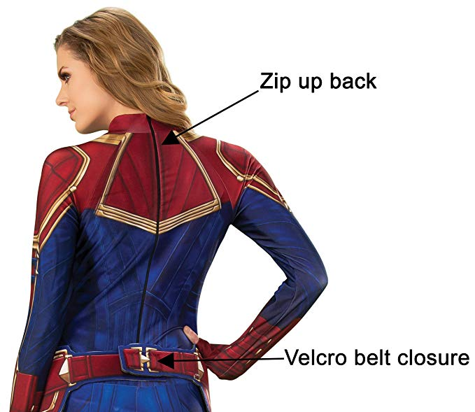 Captain Marvel Hero Suit Adult Costume Haryguls Halloween Planet Superstore Carol danvers returns to her home planet of earth to aid the avengers on their latest mission. captain marvel hero suit adult costume