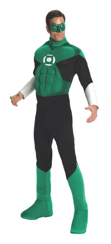 Green Lantern Deluxe Muscle Chest Adult Costume