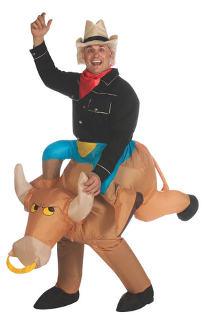 Bull Rider Inflatable Adult Costume