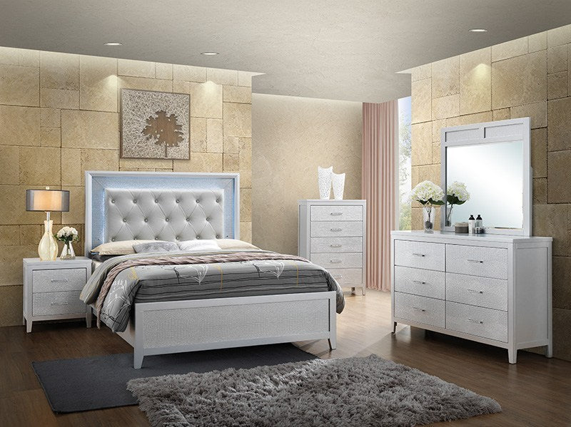 Brianna LED Grey Bedroom Set (ONE DAY SALE)