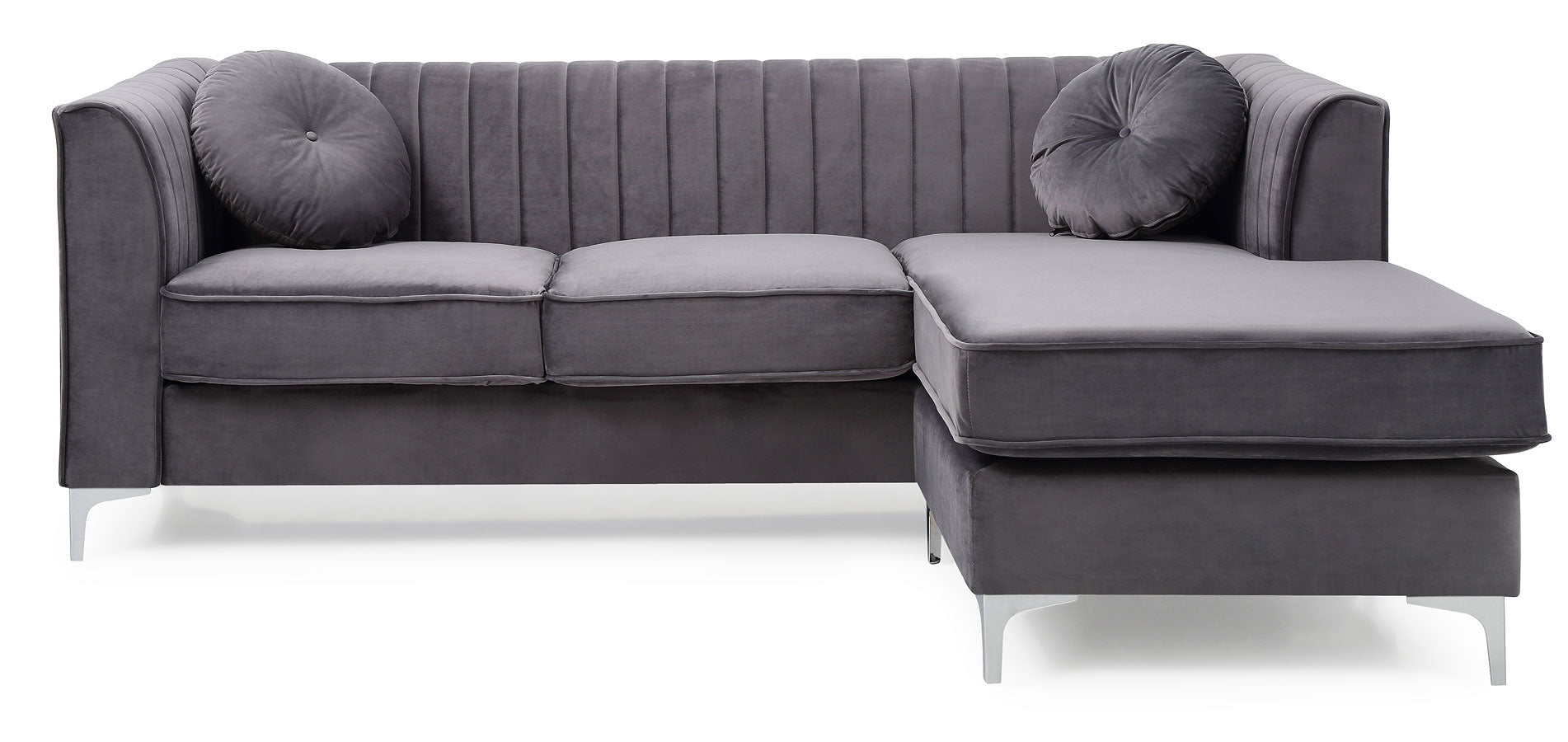 Amy\'s Reversible Sofa Chaise (Grey)