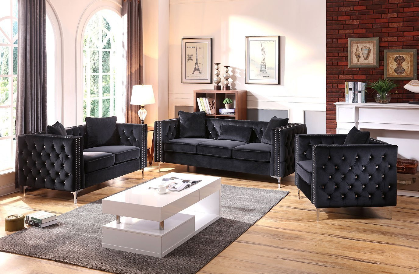 Amy\'s living room set (Black)