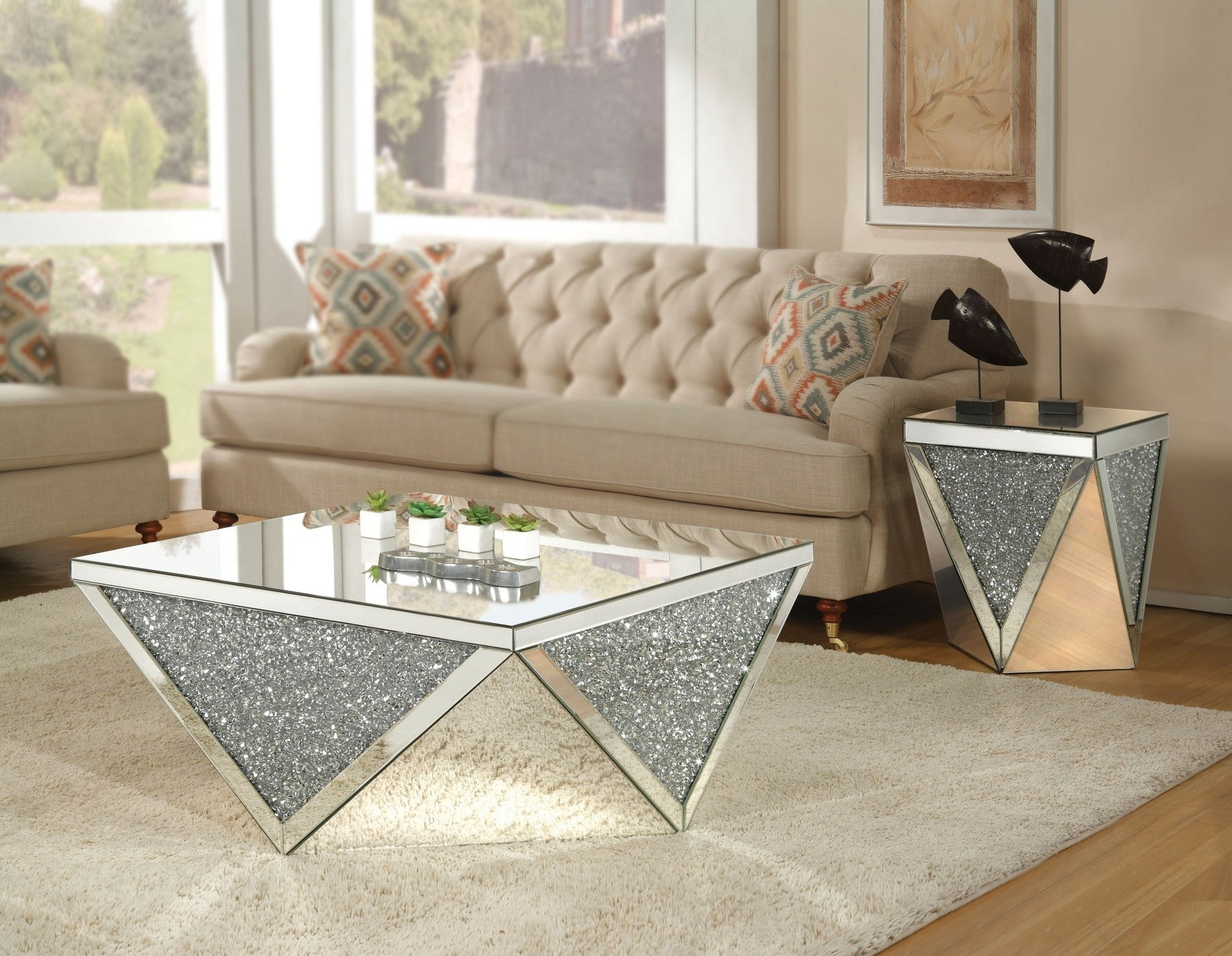 Sam Glam Coffee Table Set – JannahsFurniture