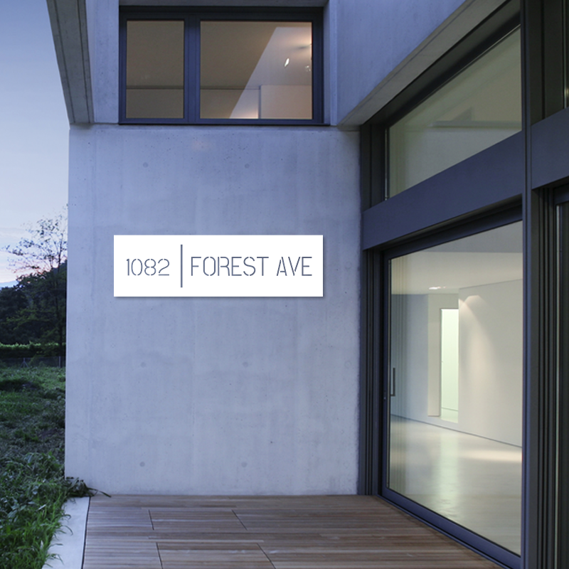 Minimalist Address Decor