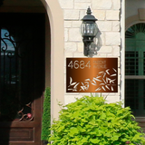 Bamboo Address Sign