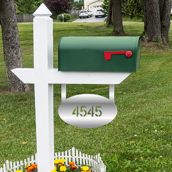Oval Mailbox Sign