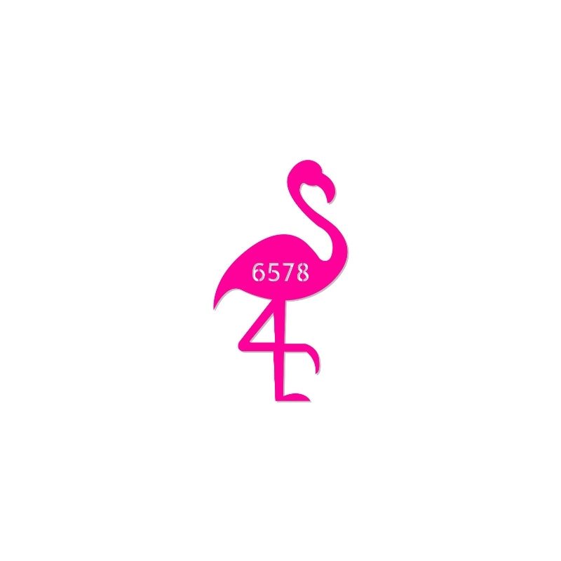 Flamingo Address Sign