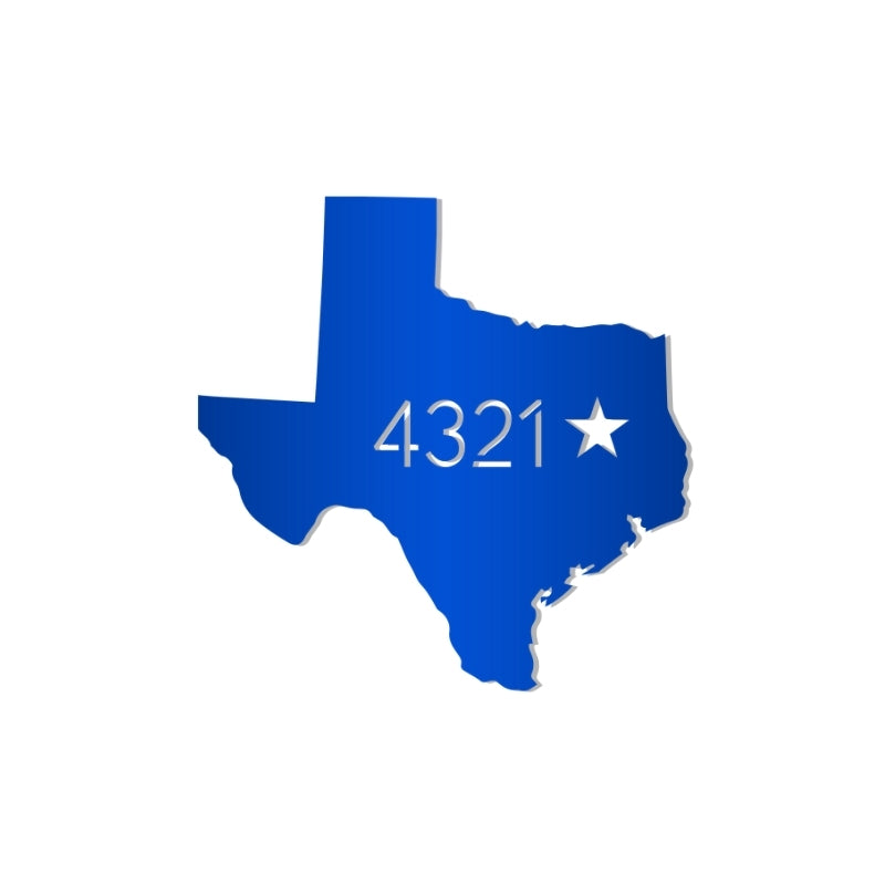 Texas Address Sign