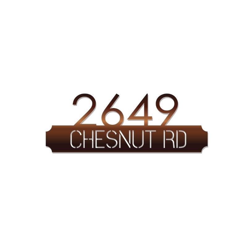 Slate Address Sign