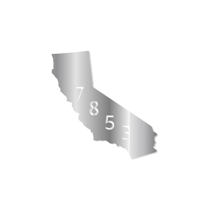 California Address Sign