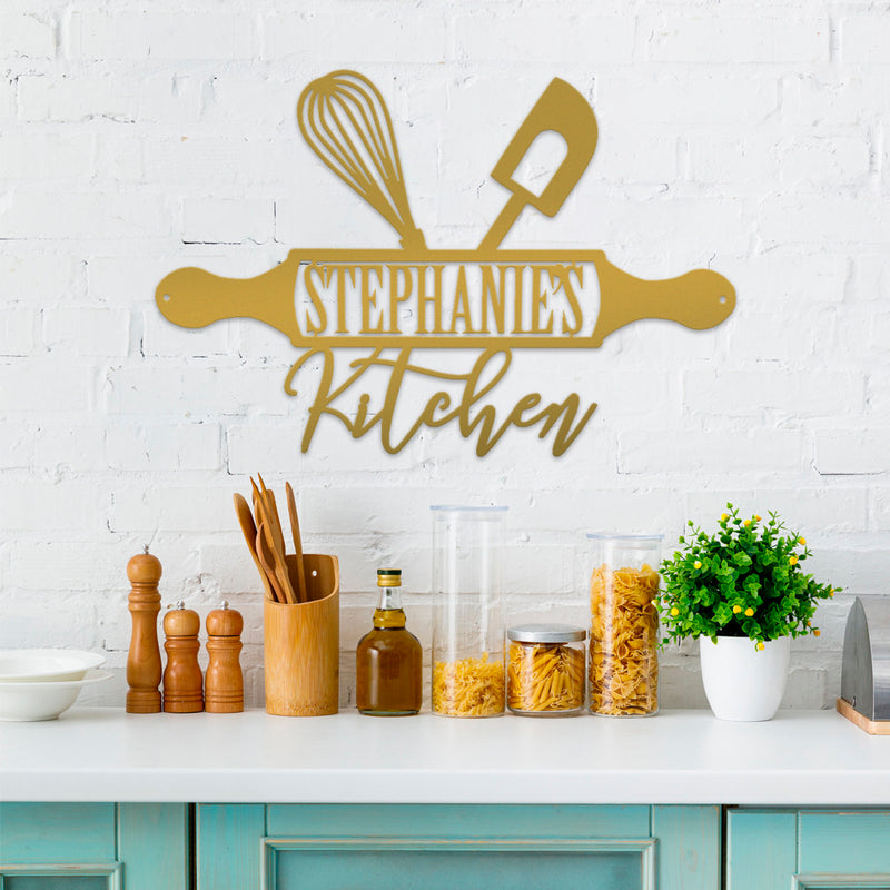 Personalized Kitchen Metal Sign