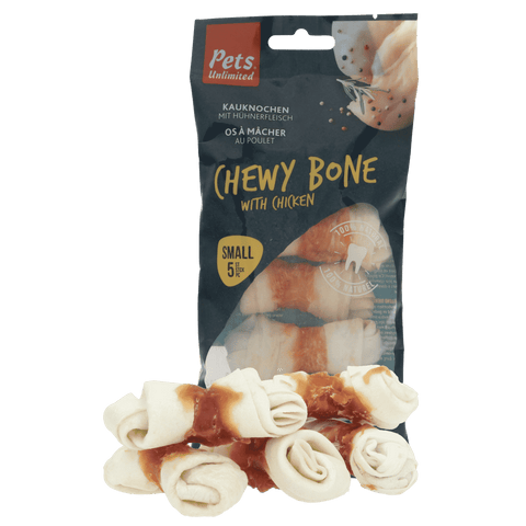 Chewy Bones with Chicken Small 5 pc