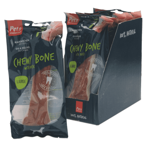 Chewy Bone with Duck Large (1 box of 6 bags)