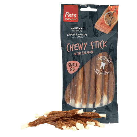 Chewy Sticks with Salmon 8 pc