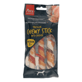 Tricolor Chewy Sticks with Chicken Medium 3 pc (1 box of 6 bags)