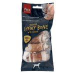 Tricolor Chewy Bones with Chicken Small 4 pc