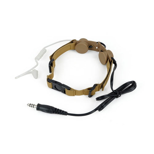 Armorwerx Covert Military Throat Mic Headset
