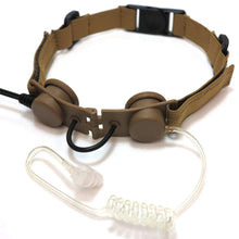 Load image into Gallery viewer, Armorwerx Covert Military Throat Mic Headset