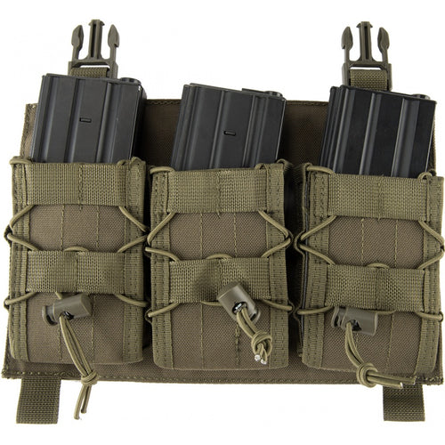 Click-in Hook & Loop Attached Rifle Magazine Triple Pouch Placard