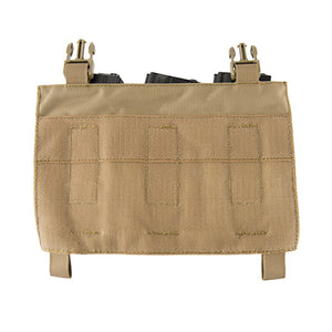 Click-in Hook & Loop Attached Pistol + Rifle Magazine Triple Pouch Placard