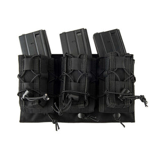 MOLLE Attached Pistol + Rifle Magazine Triple Pouch Placard