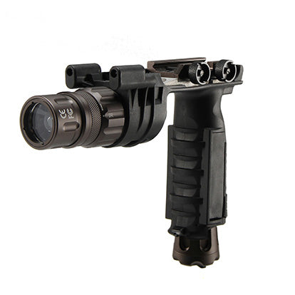 Armorwerx 250 Lumen Picatinny Mount LED Weapon Light + Vertical Grip