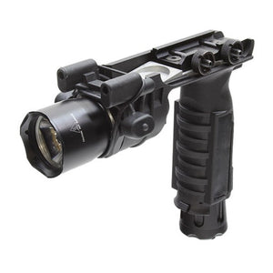 Armorwerx 200 Lumen Picatinny Mount LED Weapon Light + Vertical Grip