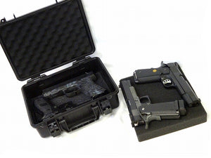 Crushproof Hard Pistol Case with Pluckable Foam - 4 Gun Capacity - TSA Approved