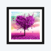 Violet Autumn Tree