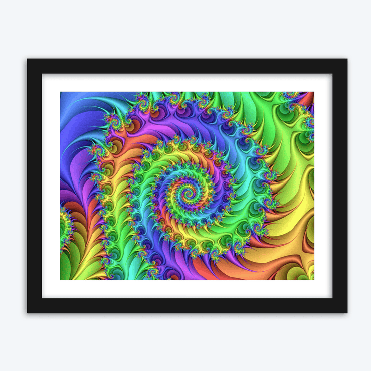 Faded Rainbow Swirls