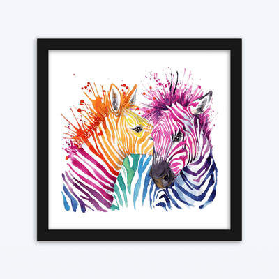 Zebra Paint Splash