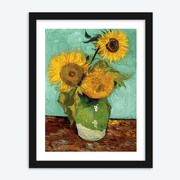 Painted Sunflower Vase