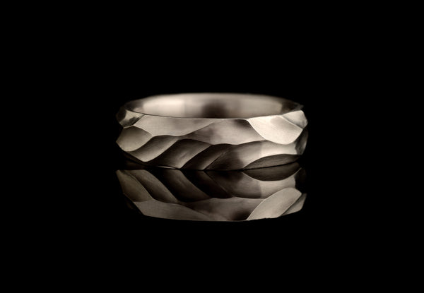 Dune: Hand carved men's and women's unique wedding bands