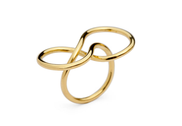 18 carat gold figure eight ring-McCaul