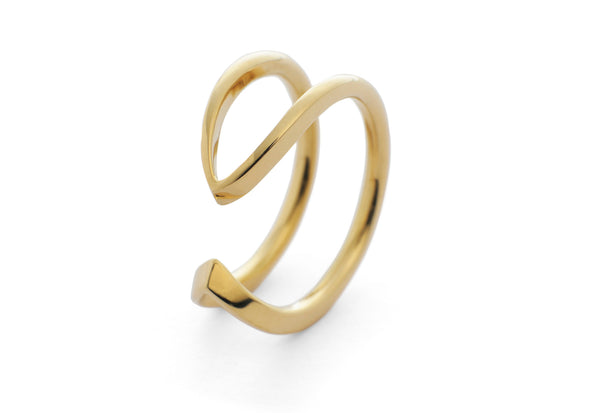 18 carat yellow gold wire horseshoe ring