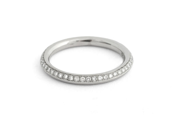 'Eternal' platinum and 18 carat gold wedding and eternity bands-McCaul