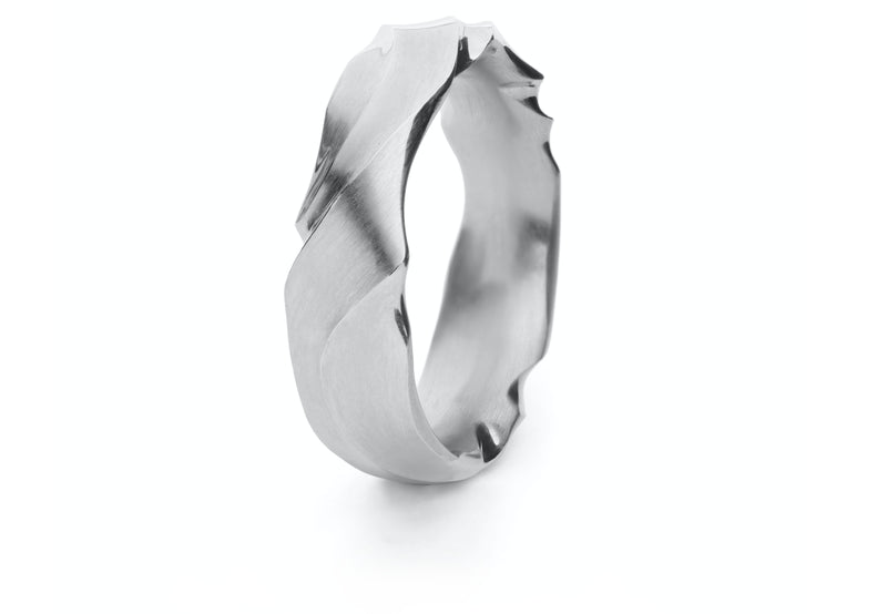 Ripple wedding bands-McCaul